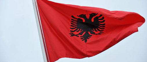 Ceremony to mark the Accession to NATO of Albania and Croatia- Flag Raising Ceremony in the Cour d'Honneur in the presence of Sali Berisha, Prime Minister of Albania and Ivo Sanader, Prime Minister of Croatia